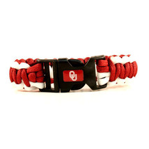 Oklahoma Sooners Survival Bracelet NCAA Paracord Survivor Strap Football... - $9.85