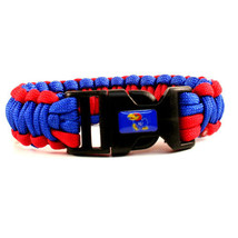 Kansas Jayhawks Survival Bracelet NCAA Paracord Survivor Strap Football ... - $9.85