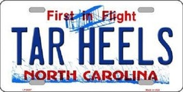 "NCAA North Carolina Vanity License Plate Tag 6""x 12""  Tar Heels Team Metal Auto  - $10.84"
