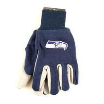 NFL Seahawks Sport Gloves Garden Utility Grip  Team Seattle Blue Grey Logo  - $6.39