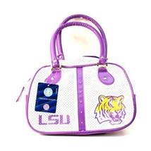 NCAA LSU Tigers Bowler Purse Bag  Handbag  Team Logo Womens -Logo NWT Wh... - $24.70
