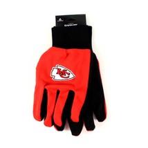 NFL Kansas City Chiefs Sport Gloves Garden Utility Grip Team Red Black Smith - $6.39