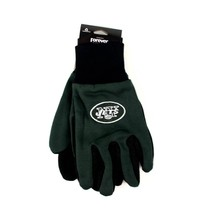 NFL New York Jets Sport Gloves Garden Utility Grip Team Green Black Logo - $6.39