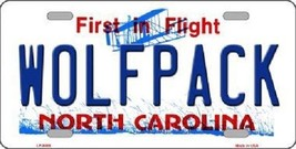 "NCAA North Carolina State Vanity License Plate Tag 6""x 12"" Wolf Team Metal Auto  - $8.86"