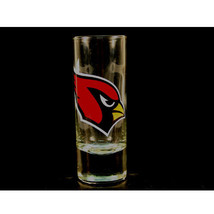 NFL Cardinals 2.5 Oz Cordial Shot Glass Team Arizona Barware Color  Logo - $8.85