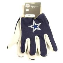NFL Dallas Cowboys Sport Gloves Garden Utility Grip Team  Blue Grey Logo Elliot - $6.39