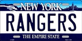 """NHL New York Rangers Vanity License Plate Tag  6""""x 12"""" Metal  Auto Cup Wall New - $12.86"""