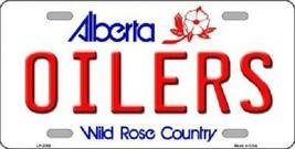"""NHL Oilers Vanity License Plate Tag  6""""x 12"""" Metal Auto Alberta Stanley New Cup  - $12.82"""