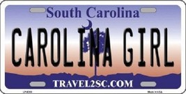 "NCAA Carolina Girl Vanity License Plate Tag 6""x 12"" Sports Tech  Metal Auto New - $14.75"