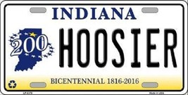 "NCAA Indiana Vanity License Plate Tag 6""x12"" Hoosiers College Team Metal Auto  - $12.86"