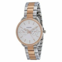 Fossil Womens Tailor Two Tone Gold Stainless Steel Bracelet ES4396 Ladies Watch - $97.97