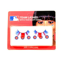 MLB Chicago Cubs Eyelash Extension Little Earth Decal Beauty Blue Wrigley Nip - $8.90