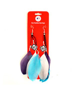 TAMPA BAY RAYS LICENSED WOMENS MLB FAN FEATHER EARRINGS DANGLE STYLE - $9.89