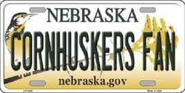 "Cornhuskers Fan Vanity License Plate Tag 6""x 12"" NCAA Nebraska Metal Auto Frame - $12.82"