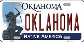 "Ncaa Oklahoma Vanity License Plate Tag 6""x12"" Sooners Boomer College Metal Auto  - $12.86"