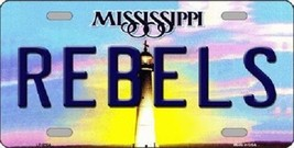 "NCAA Ole Miss Team Vanity License Plate Tag 6""x12"" College Rebels Metal Auto  - $12.33"