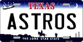 """MLB Houston Astros Vanity License Plate Tag Texas 6""""x 12""""  Metal Auto Car  New - $11.83"""