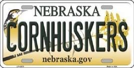 "Cornhuskers Vanity License Plate Tag 6""x 12"" NCAA Nebraska Metal Auto  - $11.83"