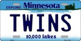 "Twins Vanity License Plate Tag  6""x 12""  Metal Auto Minnesota Target New MLB - $12.82"