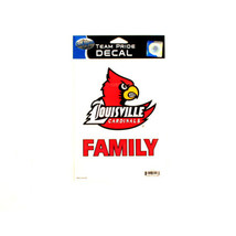 NCAA  Decal Louisville Team Logo Team Pride Family Decal - Cardinals Red... - $5.44