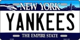 "Mlb New York Yankees Vanity License Plate Tag  6""x 12""  Metal Auto City State  - $12.86"