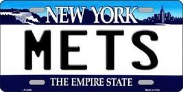 "Mlb New York Mets Vanity License Plate Tag  6""x 12"" Metal Dad Auto deGrom Matz  - $9.89"