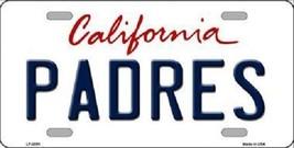 "MLB Padres Vanity License Plate Tag State 6""x 12""  Metal Auto  San Diego CA New - $12.37"