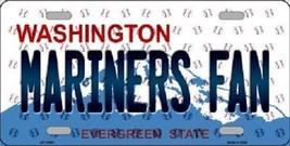 "Mlb Mariners Fan Vanity License Plate Tag Seattle 6""x 12""  Metal Auto Kingdome  - $12.37"