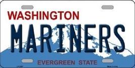 "Mlb Mariners Vanity License Plate Tag Seattle 6""x 12""  Metal Auto Kingdome New - $12.37"