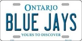 "Mlb Blue Jays Vanity License Plate Tag Boston 6""x 12""  Metal Auto Toronto New - $12.37"