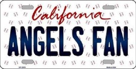 """Mlb Angels Fan Vanity License Plate Tag  6""""x 12"""" Metal Auto Los Angeles Trout - $12.37"""