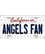 "Mlb Angels Fan Vanity License Plate Tag  6""x 12"" Metal Auto Los Angeles ... - $12.37"