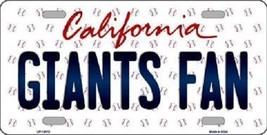 "Mlb Giants Fan Vanity License Plate Tag  6""x 12"" Metal Auto San Francisco Possey - $12.37"
