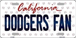 "Mlb Dodgers Fan Vanity License Plate Tag  6""x 12"" Metal Auto Los Angeles kershaw - $12.37"