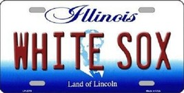 """MLB White Sox Vanity License Plate Tag  6""""x 12""""  Metal Auto Chicago Comisky New - $11.37"""
