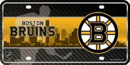 "Boston Bruins  Vanity License Plate Tag  6""x 12"" Metal Auto Stanley Cup New NHL - $13.81"