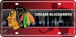 "Chicago Blackhawks  Vanity License Plate Tag  6""x 12"" Metal Auto Cup New NHL Car - $13.81"