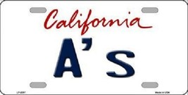 """Oakland A's Vanity License Plate Tag  6""""x 12""""  Metal Auto MLB California State  - $9.85"""