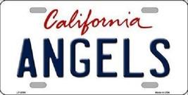 "Mlb Angels Vanity License Plate Tag Los Angeles 6""x 12""  Metal Auto California  - $9.85"
