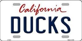 "NHL Anaheim Ducks Vanity License Plate Tag  6""x 12"" Metal  Auto Cup Wall New CA - $12.86"