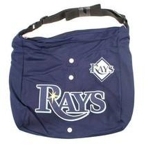 Tampa Bay Rays Jersey Tote Bag Blue Purse Shoulder Strap MLB Longoria logo  - $17.81