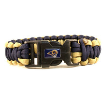 Los Angeles Rams Survival Bracelet NFL Paracord Survivor Strap Football ... - $9.85