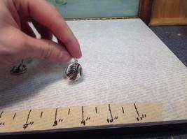 Silver Tone Round Crystal w Brown Enamel Dangle Earrings image 3