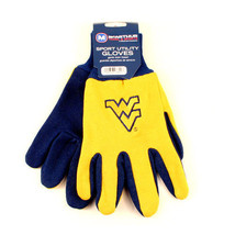 NCAA West Virginia Sport Garden Utility Grip Gloves Team Mountaineers Logo  - $6.39