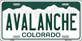 """NHL Colorado Avalanche Vanity License Plate Tag  6""""x 12"""" Metal  Auto Cup Wall - $12.86"""
