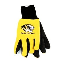 NCAA Missouri Tigers Sport Garden Utility Grip Gloves Team Color Yellow SEC Logo - $6.39