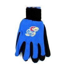 NCAA Kansas Sport Garden Utility Grip Gloves Team Jayhawks Logo Blue Basketball - $6.39