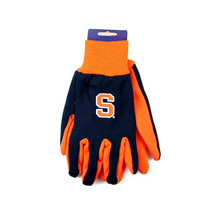 NCAA Syracuse Orangemen Sport Garden Utility Grip Gloves  Team Color  Logo ACC - $6.39