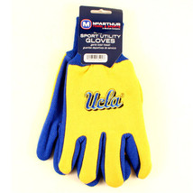NCAA UCLA Bruins Sport Garden Utility Grip Gloves PAC 12 Team Color Yellow Logo - $6.39