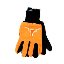 NCAA Texas Sport Garden Utility Grip Gloves Team Longhorns Logo Orange - $6.39